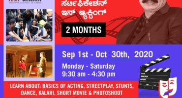 Certification in Acting at Tent Cinema Bangalore