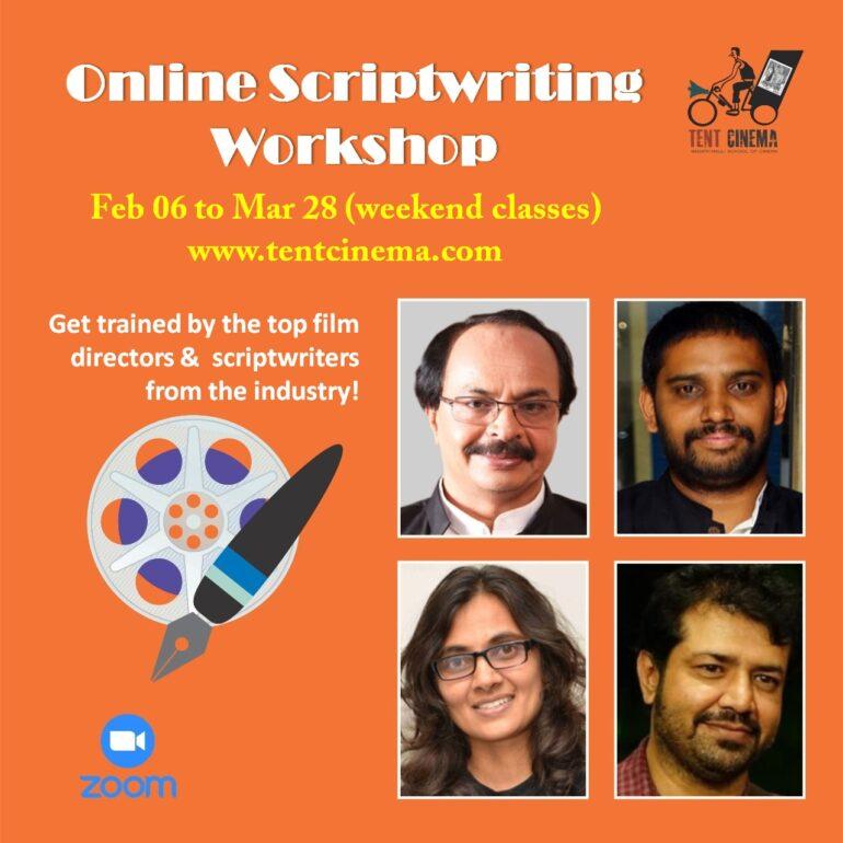 Online Scriptwriting Workshop by Tent Cinema