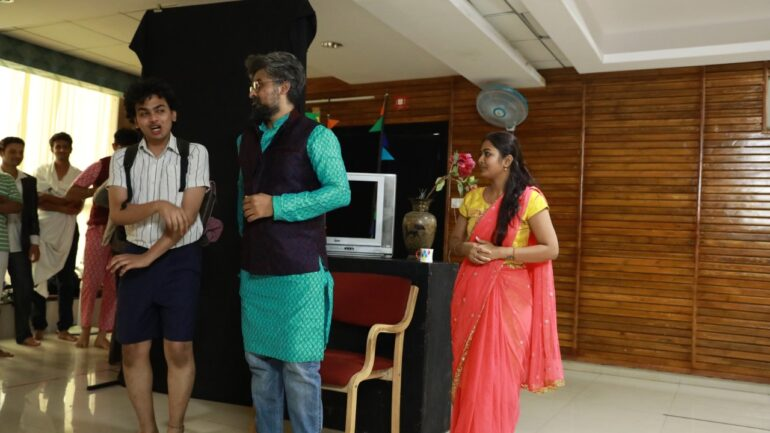 Play Rehearsals by Acting Students at Tent Cinema