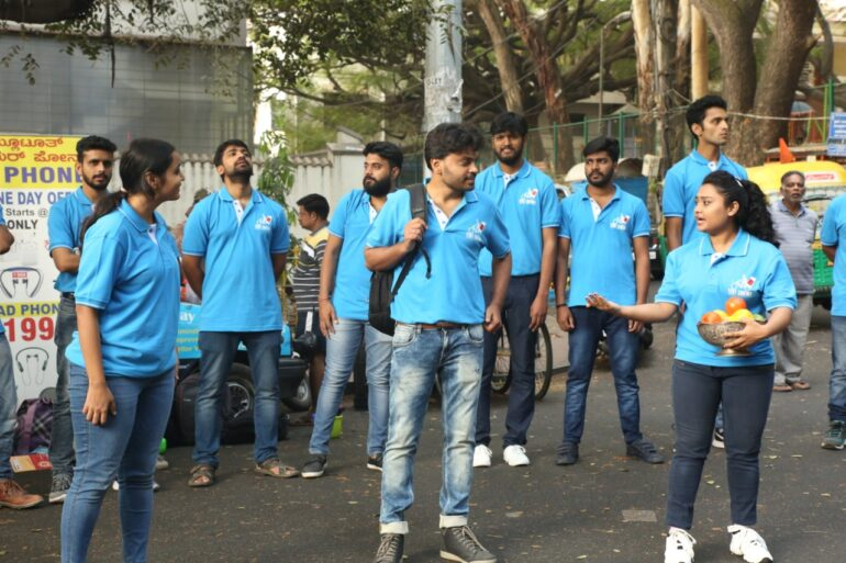 Street Play by Acting Students at Tent Cinema