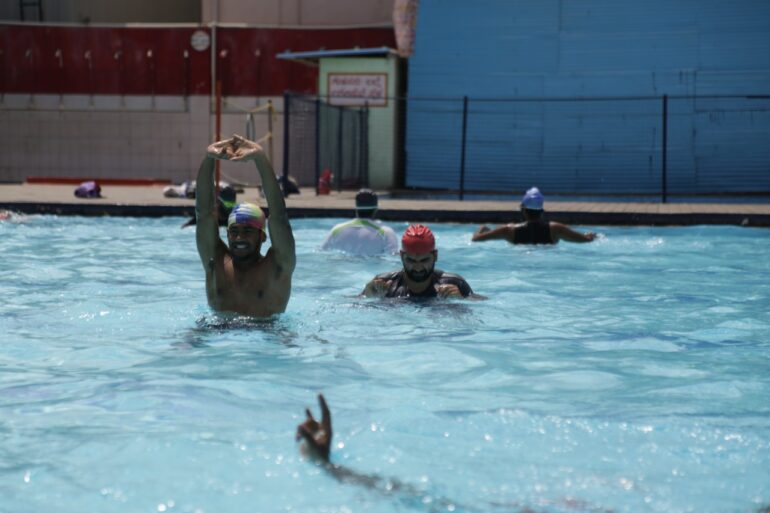 Swimming Classes at Tent Cinema