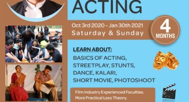 Certification in Acting (Weekend) Course at Tent Cinema Bangalore
