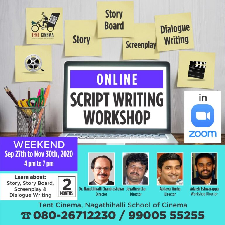 Online Script writing Workshop by Tent Cinema