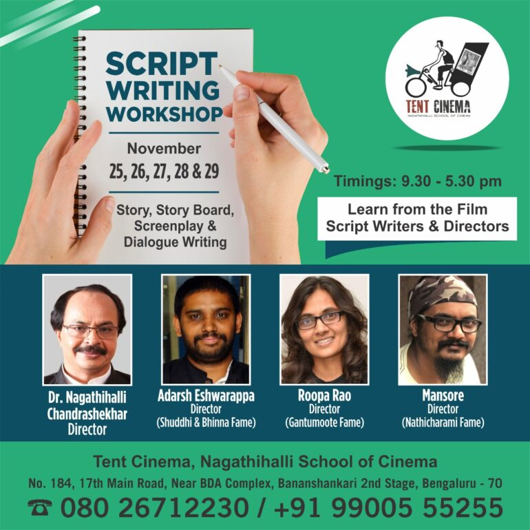 Scriptwriting Workshop by Tent Cinema