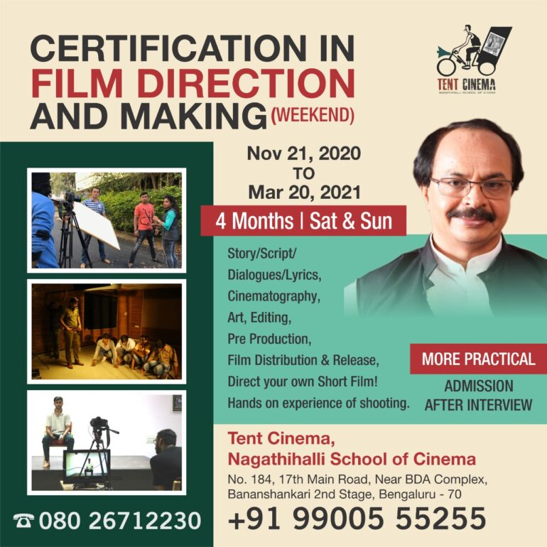 Certification in Film Direction and Film Making